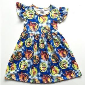 Other - NWT Girls Blue Toy Story Short Sleeve Dress
